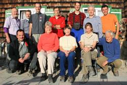 Sektions-Ausschuss vor der Bayern-Hütte