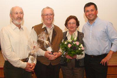 Günter Hein, Schorsch Triller, Inge Döllel, Hans Sterr (v.l.)