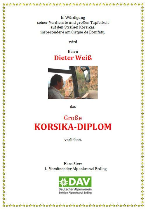 Korsika-Diplom